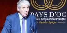 Jacques Gravegeal, président du syndicat des producteurs de vins de Pays d'Oc, lors de l'AG du 13 décembre 2018