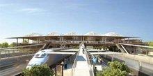 La gare TGV de Montpellier Sud de France