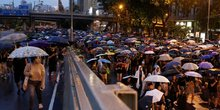 Manifestation à Hong Kong
