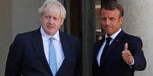 Boris Johnson, Emmanuel Macron, Brexit,