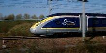 Eurostar, LGV Nord, Seclin, train, chemins de fer, motrice, transports ferroviaires