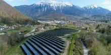 La centrale solaire de Faverges-Seythenex