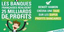 Hamon taxe super profits banques