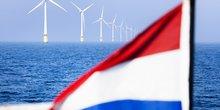 champ éoliennes offshore, Pays-Bas, Egmond aan Zee, ferme,