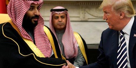 Mohammed ben Salmane et Donald Trump