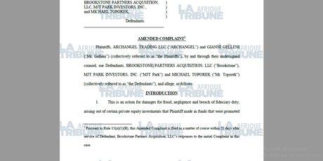 Capture plainte Brookstone affaire Platinum Power