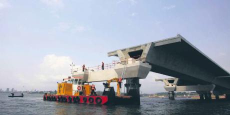Infrastructures btp construction chantier pont