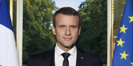Macron, portrait officiel,