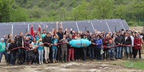 Enercoop a inauguré un parc solaire de 250 kilowatts-crêtes à Auterive dans le Gers.