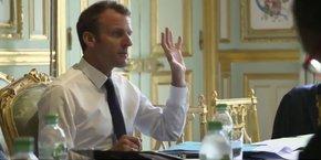 Capture d'écran de la vidéo mise en ligne par la directrice de la communication de l'Elysée.