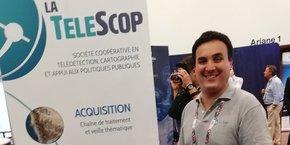 Bastien Nguyen-Duy, co-fondateur de TeleScop, sur le salon Toulouse Space Show