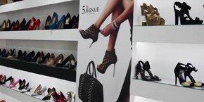 Magasin de chaussures sur la 5th Avenue (NY).