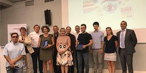Les lauréats et membres du jury du concours lancé par Openîmes