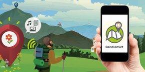 Randosmart, une application pour rendre la randonnée intelligente et connectée (capture d'écran).