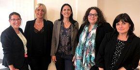 La nouvelle secrétaire générale, au centre de l'équipe de la CPME Loire, a pris ses fonctions au début de semaine.