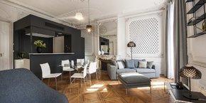 Une des suites de MiHotel dans l'Hotel particulier Gailleton (Lyon 2)