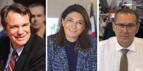 Renaud Muselier, Martine Vassal et Bruno Gilles. La présidente du Conseil départemental des Bouches-du-Rhône serait la mieux placée pour être la candidate des Républicains à Marseille.