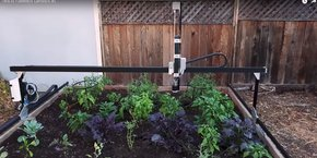 Farmbot, le jardinier intelligent en action.