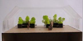 Une maquette du projet Symbiose dont l'objectif est d'encourager l'utilisation