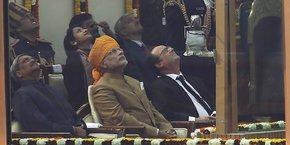 François Hollande et le Premier ministre indien Narendra Modi, lors de la visite officielle du président de la République en Inde en janvier 2016.