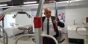 Michel Malgouyres, co-dirigeant de Scaleo Medical à Montpellier