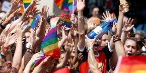 La Marche des fiertés LGBT (Paris Pride Parade) à Paris le 30 juin 2018.