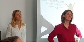 Anne Brissaud (animatrice) et Marie Eloy (fondatrice) présente le réseau Bouge ta Boite à Montpellier