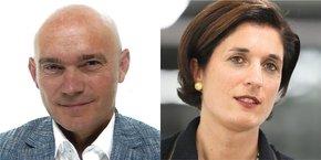 Jérôme Authier, directeur général et Sophie Garcia, présidente du Medef Occitanie.
