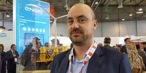 Jean-Mathieu Kolb, directeur projet EFGL chez Engie Green, lors du salon Energaïa 2018 à Montpellier.