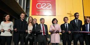 Le CEA Tech a inauguré ses nouveaux locaux à Labège en présence de Nadia Pellefigue (vice-présidente de la Région Occitanie en charge du développement économique), Étienne Guyot (préfet d'Occitanie), Carole Delga (présidente de Région Occitanie), Jacques Oberti (président du Sicoval), et François Jacq (administrateur du CEA).