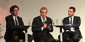 Luc Ferry, Philippe Saurel et Laurent Villaret.