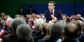 C'est à Grand Bourgtheroulde (Eure) qu'Emmanuel Macron s'est exprimé mardi dernier  devant des maires pour lancer le Grand débat.