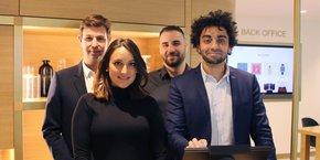 Le cofondateur et directeur général de Wynd, Ismaël Ould (à droite), et une partie de son équipe.