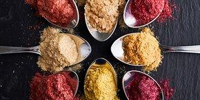 Une innovation sortie des laboratoires Philibert Savours : des poudres de fruits et de légumes déshydratés.