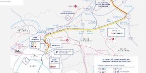 La date de mise en service commerciale est attendue pour le 1er janvier 2024 entre la gare de l'Est et l'aéroport de Roissy.