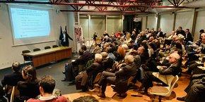 La salle était pleine pour le débat organisé par la CCI Occitanie à Blagnac.