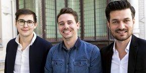 Charles Collas, Nicolas Gay et Jimmy Delage sont les trois co-fondateurs de la jeune pousse Welmo.