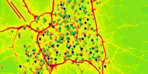 Le collectif Archipel citoyen a diffusé une carte interactive pour alerter les habitants sur les seuils de pollution dans les lieux publics accueillant des enfants.