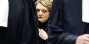 Rachel Lambert, la femme de Vincent Lambert, à la Cour européenne des droits de l'homme, à Strasbourg, en janvier 2015.