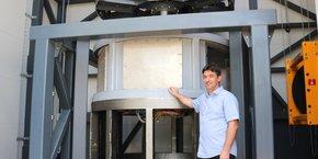 Philippe Moranne, dirigeant d'Intraterra, a conçu une machine inédite qui assure un forage plus écologique de la roche.