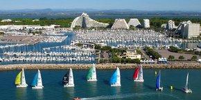 La Grande Motte, l'une des stations balnéaires du littoral méditerranéen.