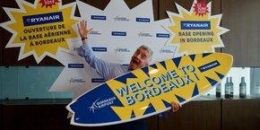 Le directeur général de Ryanair, Michael O'Leary, était à Bordeaux pour l'inauguration de la nouvelle base française de la compagnie irlandaise.