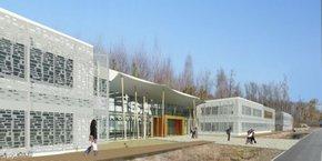 Le futur campus d'Elisa Aeropsace accueillera 600 élèves ingénieurs à Saint-Jean-d'Illac, près de Bordeaux.