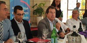 André Deljarry, aux côtés de Mohamed Afennich, nouveau directeur général de la CCI Hérault