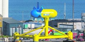 Sabrlla implantera un site d'assemblage d'hydrolienne sur le nouveau polder EMR du port de Brest.