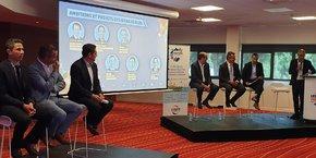 La 2e table-ronde du colloque FRTP Occitanie, organisé le 2 juillet, réunissant les grands élus de l'Hérault