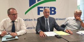 J. Chanut (FFB), T. Ducros (FFB Hérault) et P. Ceccotti (FFB Occitanie)