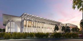 Visuel d'architecte du futur stade nîmois