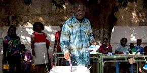 José Mário Vaz, lors de l'élection présidentielle d'avril 2104 en Guinée-Bissau.