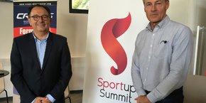 Le président d'Ad'OCC Sport, J.-M. Oluski, et le nouveau directeur des CREPS Montpellier et Font Romeu, F. Beauchard